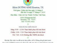 Giới thiệu Khóa Dưỡng Sinh Houston, TX từ 12/6 đến 17/6/2015
