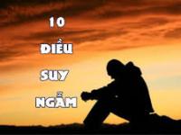 10 điều suy ngẫm